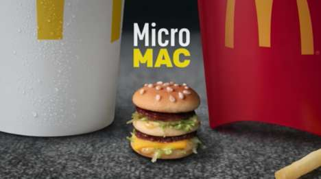 Miniature Burger Pranks - McDonald's Launched 'The Micro Mac' for April Fool's Day