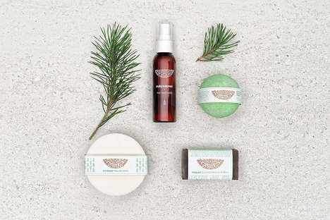 Pine-Based Spa Boxes - My Little Spa Offers a Small Spa Experience in a Curated Kit