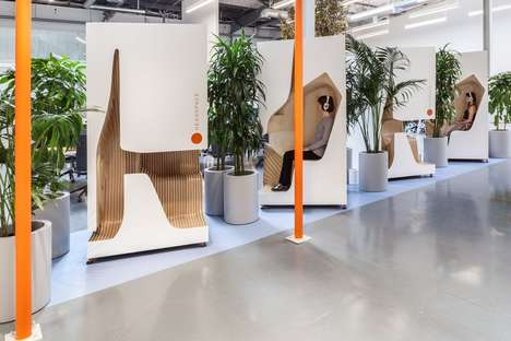 Office Meditation Booths - The Headspace Office is Focused on Fostering Healthy and Happy Employees