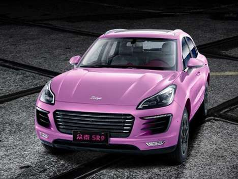 Female-Focused Chinese Crossovers - The Pink Zotye SR9 Goddess Will Debut at the Shanghai Auto Show