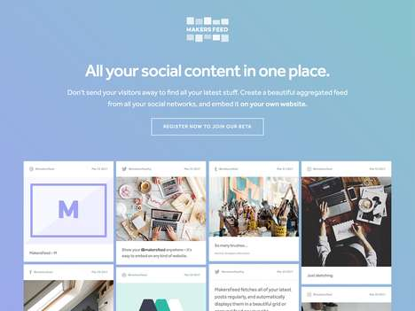 Social Feed Aggregator Sites - The 'MakersFeed' Social Feed Aggregator Organizes Content Beautifully