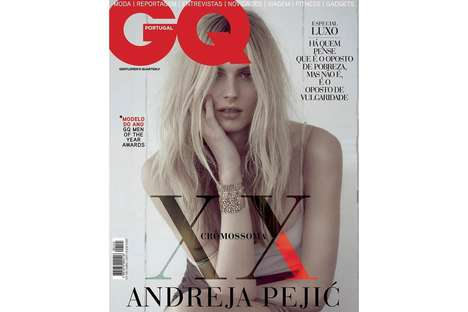 Elegant Transgender Cover Shoots - Andreja Pejic is the First Transgender Model to Be on a GQ Cover