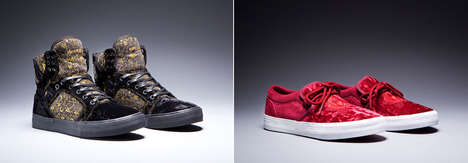 Baroque Velvet Sneakers - Supra's Disney Sneakers Boast Luxurious Materials and Ornate Patterns