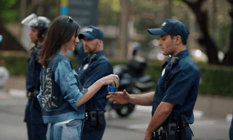 Civil Unrest Ad Spots - Pepsi and Kendall Jenner's New Commercial Uses Activism to Sell Soft Drinks