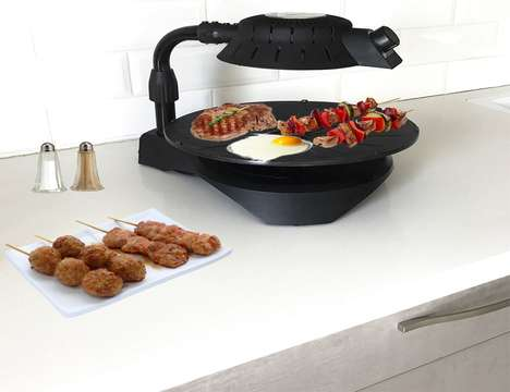 Dual-Heating Cooking Appliances - The 'Upside Pan' Cooking Pans Cook Food from the Top and Bottom