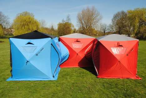 Interconnecting Camping Tents - The 'Qube' Pitch Tents Can be Conjoined for as Much Space as Needed