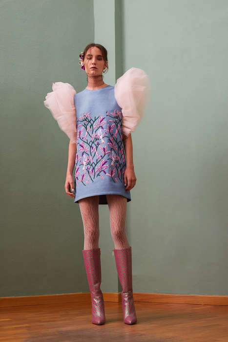 Eccentric Ruffled Clothing Collections - Giuseppe Morabito's Collection is Inspired by Calabria