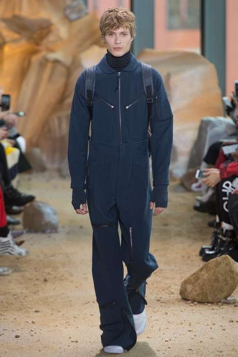 Casual Extraterrestrial Fashion - Fall Lacoste Ready-to-Wear Imagines a Fashionable Future on Mars