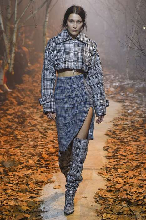 Youthful Houndstooth Streetwear - The Off-White Fall RTW Collection Offers Hip, Sophisticated Styles