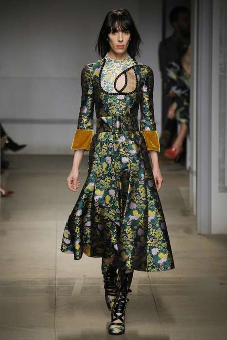 Ornate Turkish Fashion - These Fall Erdem Ready-to-Wear Looks Fuse Global Styles
