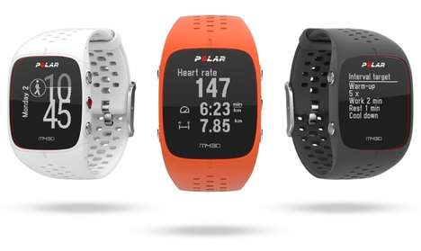 Runner Training Smartwatches - The Polar M430 Run Watch Offers Actionable Guidance During Use