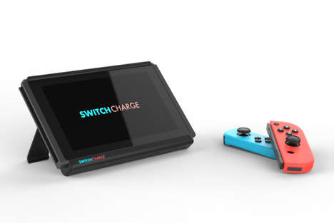Game Console Battery Cases - The 'SwitchCharge' Helps Extend Battery Life of the Nintendo Console
