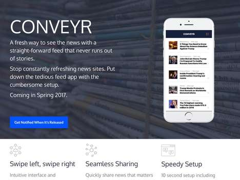 Swipe-Based News Apps - The 'Conveyr' Mobile News App Delivers Information Intuitively
