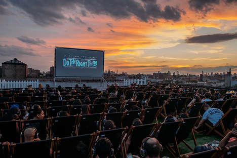 Rooftop Landscape Movie Screenings - The Rooftop Cinema Club Merges Film with Beautiful Scenery