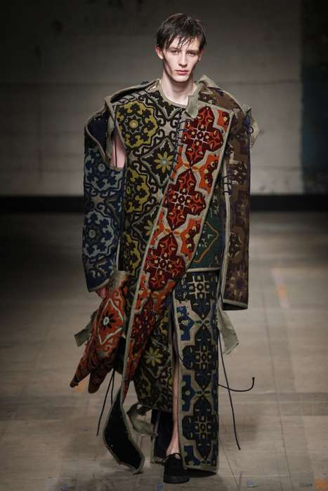 Regal Smock Fashion - This Craig Green Menswear Collection Explores Themes of Tapestry and Nobility
