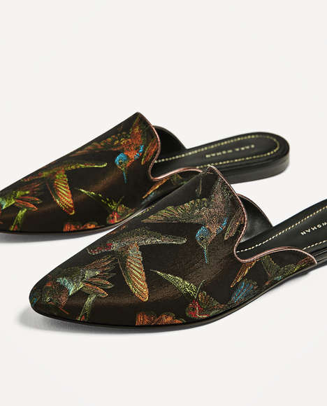 Luxurious Jacquard Loafers - These Jacquard Shoes from Zara Add Instant Sophistication to Outfits
