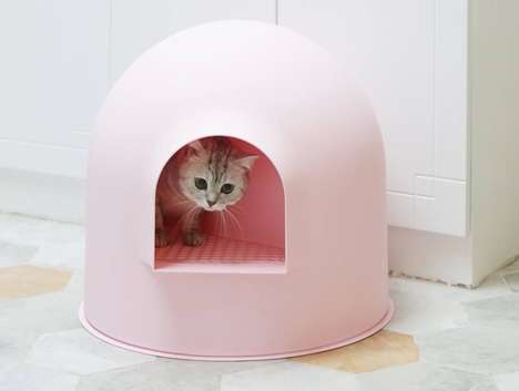Hidden Designer Litter Boxes - The 'Igloo' Cat Litter Boxes Ensure Mess-Free Spaces