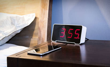 Device-Charging Alarm Clocks - The Sandman Clock Alarms Enable Device Charging While You Snooze