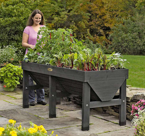 Elevated Urban Garden Boxes - The 'VegTrug' Elevated Patio Garden Brings Greenery Up Off the Ground