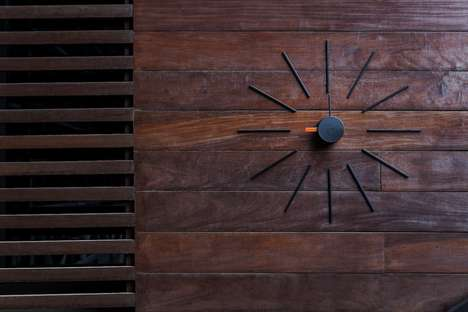 DIY Wall Clock Artwork - The KLOX 'Urchin' Modern Wall Clock Can be Placed Anywhere