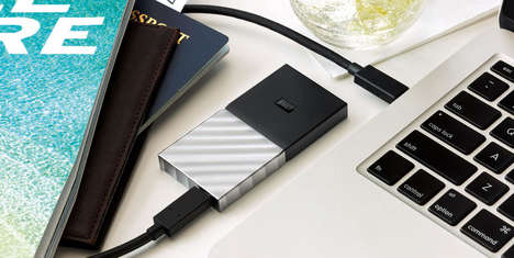 Powerfully Optimized PC Drives - The Western Digital Portable Solid State Drive is Fast and Durable