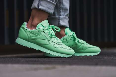 Monochrome Mint Sneakers - Reebok Released a 'Mint Green' Version of Its Classic Leather Model