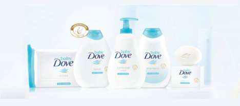 Pediatrician-Tested Baby Cosmetics - The Baby Dove Care Cosmetics are Formulated for Infants
