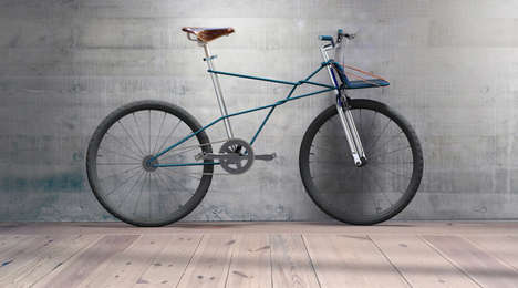 Rope-Tied Bicycle Concepts - Playful Design Studio's Bike Frame Looks Like Its Held Together by Rope
