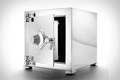 Solid Silver Safes - The Asprey Sterling Silver Safe is Crafted from the Precious Metal