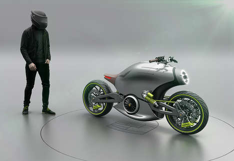 Sports Car-Inspired Motorcycles - The '618' Two-Wheeled Motorcycles are Inspired by the Porsche 911