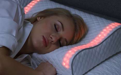 Invigorating Light Alarm Pillows - The 'Sunrise' Smart Light Pillow Wakes You Up Naturally