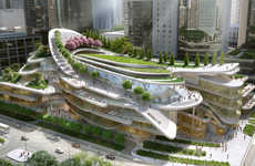 Architectural Sledding Paths - A Sledding Path will Loop Around the Roof of the Beijing Civic Center