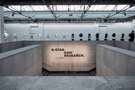 Military-Themed Retail Displays - G-Star's Denim Collection is Displayed in the Palais de Tokyo