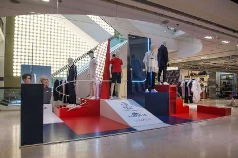Flag-Themed Retail Stores - Bonsoir Paris Designed the Summer Olympics Lacoste Store in France