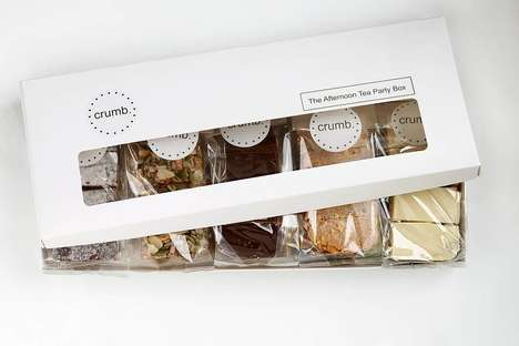 Letterbox-Sized Cake Sets - The 'Tea Party Gift Box' from Crumb Can Be Effortlessly Delivered