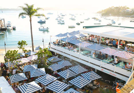 Pop-Up Beach Bars - Watsons Bay Boutique Hotel Created a Luxurious Space to Watch Surfing