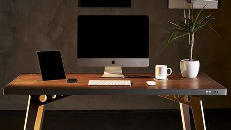 Tech-Infused Work Desks - The Tabula Sense Smart Desk Plays Music and Charges Smartphones