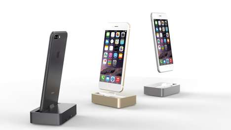 Shifting Smartphone Charging Docks - The 'Lecan I/O' iPhone Aluminum Dock Deters Damage