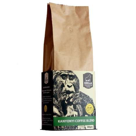 Conservation-Promoting Coffee Beans - 'Gorilla Conservation Coffee' Supports Conservation in Uganda