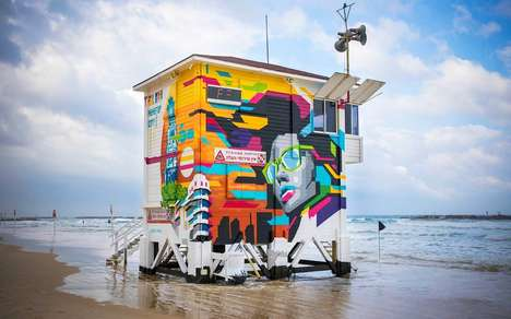 Lifeguard Tower Hotels - This Beachside Hut in Tel Aviv is Now a Luxury Pop-Up Hotel