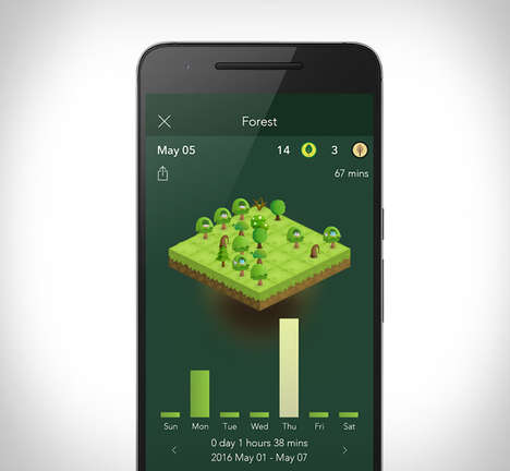 Anti-Technology Smartphone Apps - The 'Forest' App Plants a Garden That Flourishes Without You