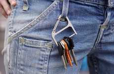 Expansive Carabiner Key Organizers - The 'Key Wrangler' Clip Keychain Organizes Keys and More
