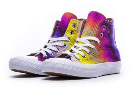 Classic Rainbow Sneakers - The New Chuck Taylor All Star His Have a Vibrant Summery Design