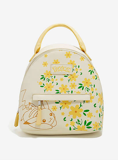 Floral Anime Knapsacks - The Loungefly Pokemon Mini Backpacks Feature Spring Prints and Pastels