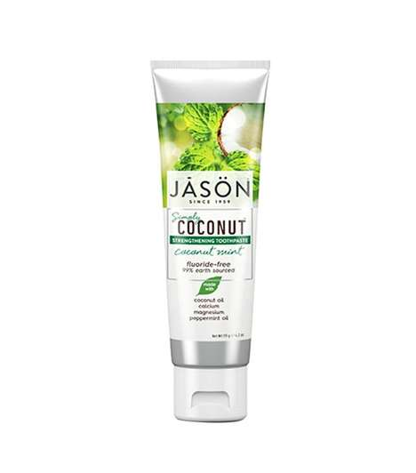 Coconut Oil Toothpastes - Jason's Simply Coconut Toothpaste is Inspired by Oil Pulling