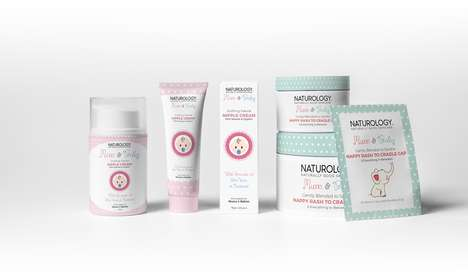 Baby-Friendly Skincare Collections - This Naturology Range is Branded for Both 'Mum & Baby'