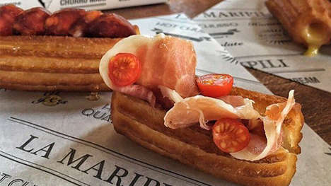 Savory Churro Sandwiches - La Maripili is Reinventing the Churro with Chorizo and Tomatoes