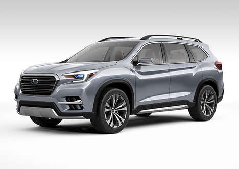American-Built SUVs - The Subaru Ascent Concept Three-Row SUV Holds Seven Passengers