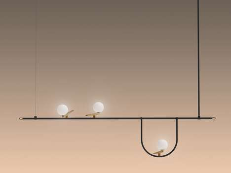 Avian Light Fixtures - Neri&Hu's Yanzi Lights Look Like Caged Birds
