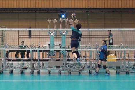 Volleyball-Playing Robots - Japanese Engineers Have Developed an Elite Robot Volleyball Machine
